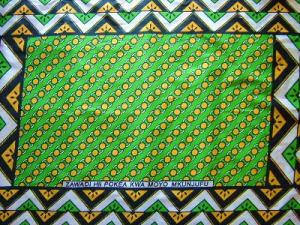 アフリカ布カンガ−チェーンリング
